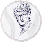 Nero Roman Emperor Series Ancient Rome Round Beach Towel