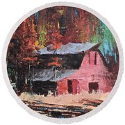 Nestled In The Pines Round Beach Towel