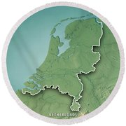 Netherlands Topographic Map.Netherlands Country 3d Render Topographic Map Border Digital Art By