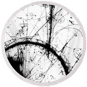 Neutrino, Bubble Chamber Event Round Beach Towel