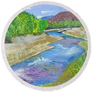 Nevada Oasis Round Beach Towel
