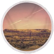 Nevada Usa Valley Of Fire  Round Beach Towel