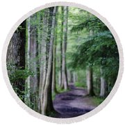 Never Ending Trail Round Beach Towel