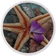 Never Forgotten- Starfish Art Round Beach Towel