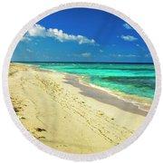 Neverending Paradise Round Beach Towel
