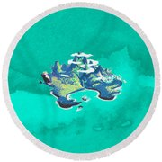Neverland Watercolor Round Beach Towel