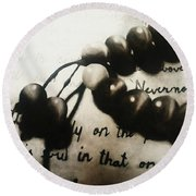 Nevermore Round Beach Towel