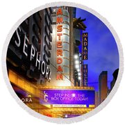 New Amsterdam Theatre Round Beach Towel