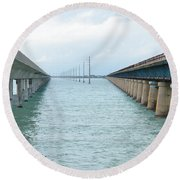 New And Old Round Beach Towel
