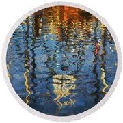 New Bedford Waterfront No. 5 Round Beach Towel