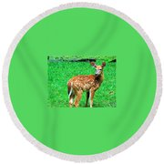 New Beginings  Round Beach Towel