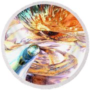New Beginnings Abstract  Round Beach Towel