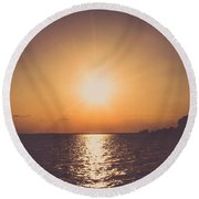New Beginnings Round Beach Towel