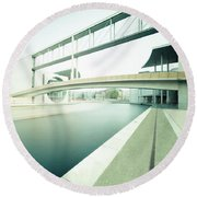 New Berlin Architecture - The Government District Round Beach Towel