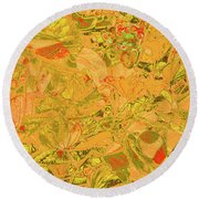New Bloom Orchid 21 Round Beach Towel