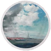 New Brighton From The Mersey Round Beach Towel