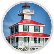 New Canal Lighthouse - Nola Round Beach Towel