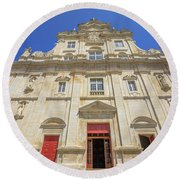 New Cathedral Of Coimbra Round Beach Towel