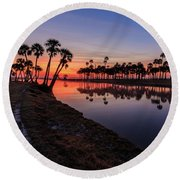 New Day At Econ River Round Beach Towel
