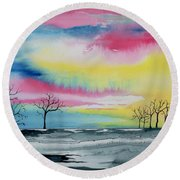 New Day Dawn  Round Beach Towel