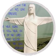 New Day In The Lord Round Beach Towel