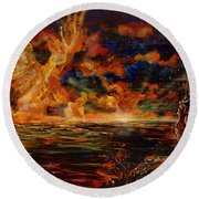 New Day Rising Round Beach Towel