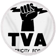 New Deal: Tva Symbol Round Beach Towel