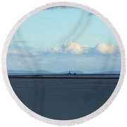 New Dungeness Lighthouse Round Beach Towel