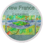 New France Mug Shot Round Beach Towel