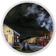 New Freedom Pa Steam Train Round Beach Towel
