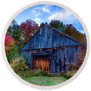 New Hampshire Barn Eaton Nh Round Beach Towel