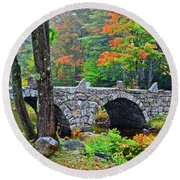 New Hampshire Bridge Round Beach Towel