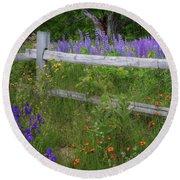 New Hampshire Wildflowers Round Beach Towel