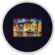 New Harbor Round Beach Towel