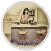 New Haven - Asian American Series Round Beach Towel
