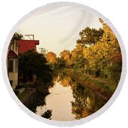 New Hope, Pa Round Beach Towel