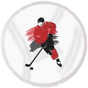 New Jersey Devils Player Shirt Round Beach Towel