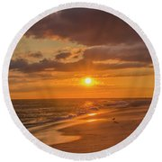 New Jersey Has The Best Sunsets - Cape May Round Beach Towel