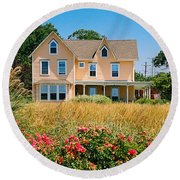 New Jersey Landscape Round Beach Towel