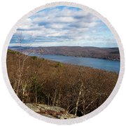 New Jersey Mountaintop View Round Beach Towel