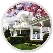 New Jersey Shore Spring Round Beach Towel