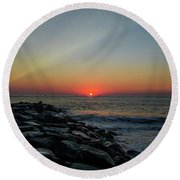 New Jersey Shore - Townsends Inlet Round Beach Towel