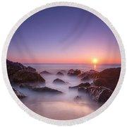 New Jersey Sunrise At Sea Girt Round Beach Towel