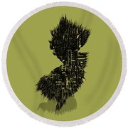 New Jersey Typographic Map 4a Round Beach Towel