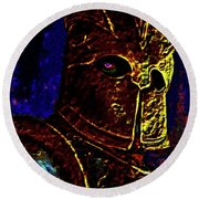 New Knight Of The King's Guard. Mask. Round Beach Towel