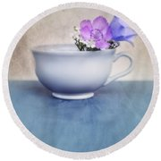 New Life For An Old Coffee Cup Round Beach Towel