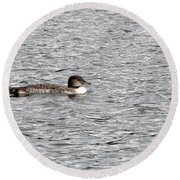 New Loon Round Beach Towel