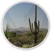 New Mexican Desert Round Beach Towel