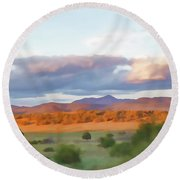 New Mexico Pastel Round Beach Towel