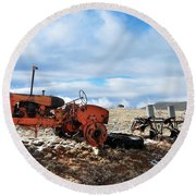 New Mexico Tractor Round Beach Towel